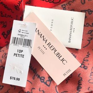Banana Republic Dresses - NWT French Script Shirt Dress